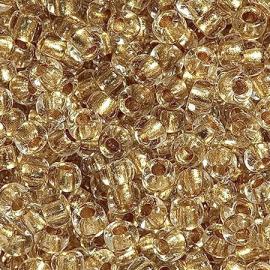 Бисер PRECIOSA 10/0 (50гр) 1сорт цвет: прозрачный огонек с золотой серединкой арт.68106