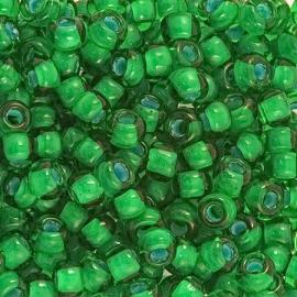 Бисер PRECIOSA 10/0 (50гр) 1сорт цвет: зеленый с белой серединкой арт.50105