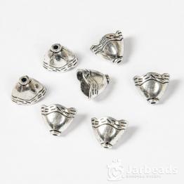 Колпачки литые приплюснутые Колокольчик вн.d.10*6мм (серебро) 2шт