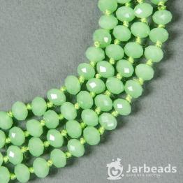 Кристаллы 8мм зеленый карамельный 10штук