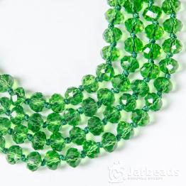 Кристаллы рондель 6*8мм лесная зелень 10штук