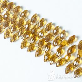 Кристалл капля 12*6мм (горчишный мед)