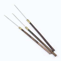 Крючок для люневильской вышивки d.31*0,72мм с деревянной ручкой 7.7см арт.6751-A