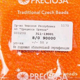Бисер PRECIOSA 8/0 (50гр) цвет: оранжевый прозрачный арт.90000