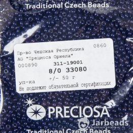 Бисер PRECIOSA 8/0 (50гр) цвет: синий темный керамика арт.33080