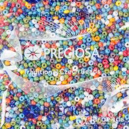 Бисер PRECIOSA 8/0 (50гр) цвет: микс из блестящей керамики