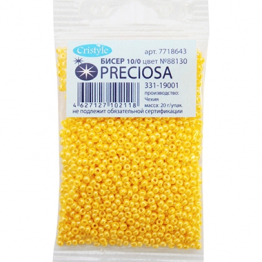 Бисер PRECIOSA 10/0 (20гр) 1сорт цвет: желтый блестящий арт.88130