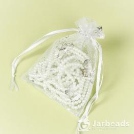 Мешочки из органзы Бабочки 9*12см (белый)