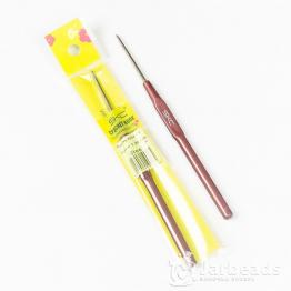 Крючок для вязания d.1,5мм с пластиковой ручкой 14,3см
