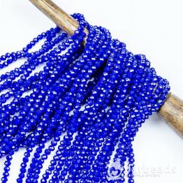 Бусины рондели 2*3мм синий темный керамика 140шт арт.78