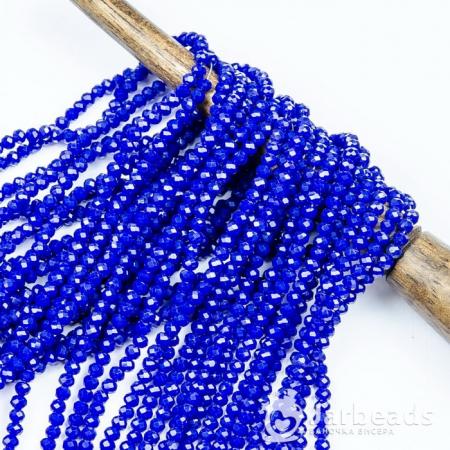 Бусины рондели 2x3мм синий темный керамика 140шт 78
