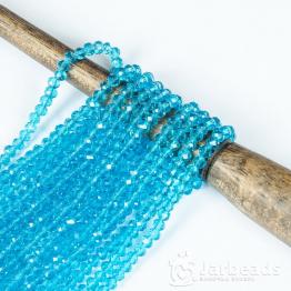 Кристаллы рондель 4*5мм голубой прозрачный 144штуки арт.78