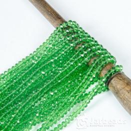 Кристаллы рондель 4*5мм зеленый прозрачный 144штуки арт.71