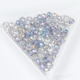 Кристаллы рондель 4*5мм аметист радужный 50штук