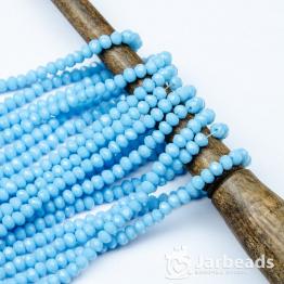 Кристаллы рондель 4*5мм голубой керамика 144штуки арт.7