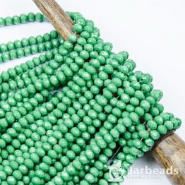 Кристаллы рондель 4*5мм зеленый керамика 144штуки арт.18