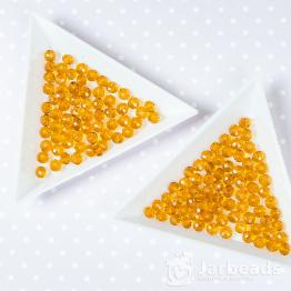 Кристаллы 4мм горчишный мед 50штук