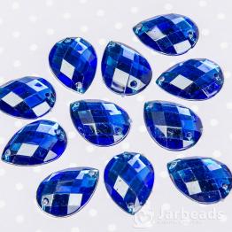 Стразы пришивные каплевидные 13*18мм (синий) 10шт