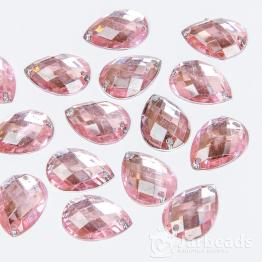 Стразы пришивные каплевидные 13*18мм (розовые) 10шт