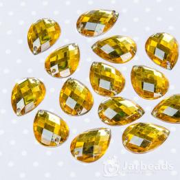 Стразы пришивные каплевидные 13*18мм (желтый) 10шт