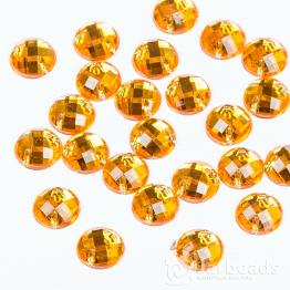Стразы пришивные круглые 8мм (оранжевый) 10шт