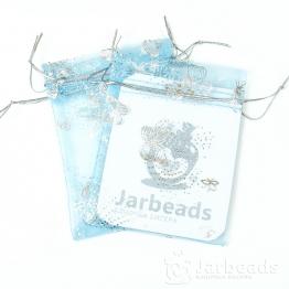 Мешочки из органзы Бабочки 9*12см (голубой)
