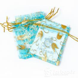 Мешочки из органзы Колокольчики 7*9см (голубой)