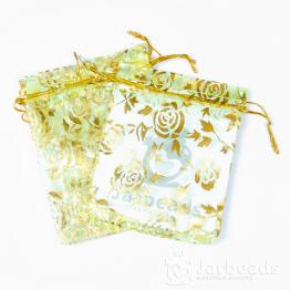 Мешочки из органзы Розы 9*12см (салатовый)