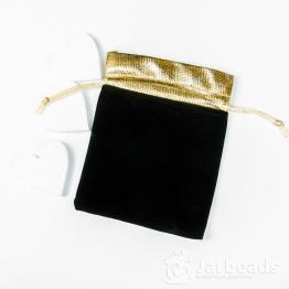 Мешочек бархатный с золотом 12*15см (черный)