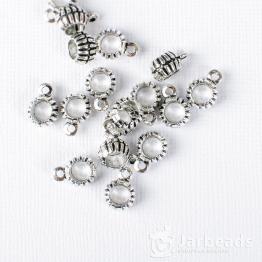 Бейл с полосками 5*21мм (серебро)