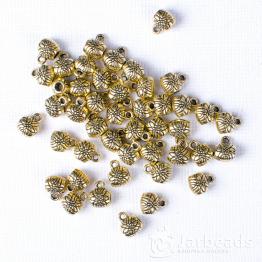 Бейл с цветком 6*7мм (золото)