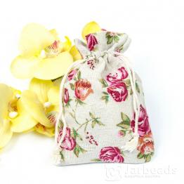 Мешочки тканевые 10*14см Розы (хлопок)
