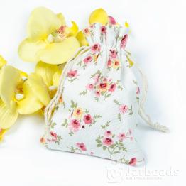 Мешочки тканевые 10*14см Цветы (хлопок)