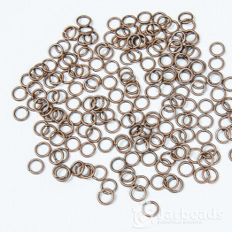 Кольца разжимные 0,6см (медь) 50штук