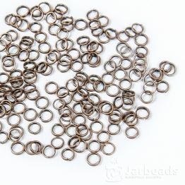 Кольца двойные 0,5см (медь) 50штук