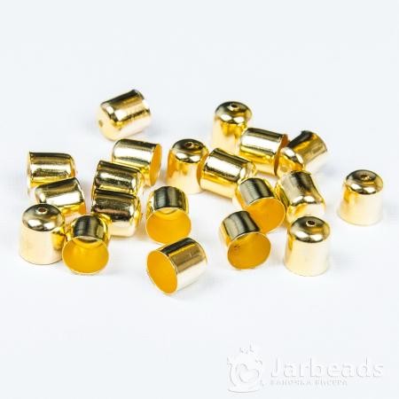 Колпачки литые с отверстием вн.d.9мм золото 2шт