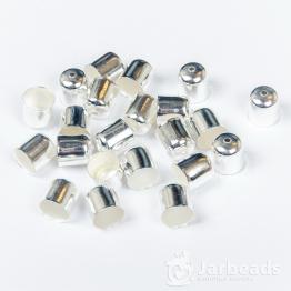 Колпачки литые с отверстием вн.d.11мм (серебро хром) 2шт.