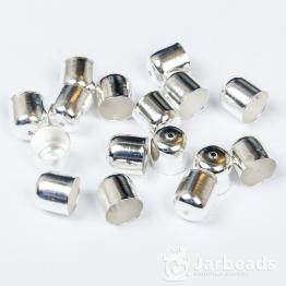 Колпачки литые с отверстием вн.d.9мм (серебро хром) 2шт.