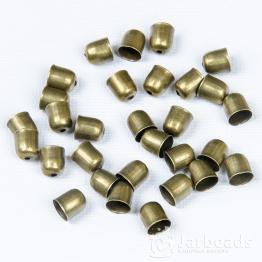 Колпачки литые с отверстием вн.d.7мм (бронза) 2шт.
