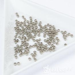 Обжимные бусины 2мм (серебро) 50шт.