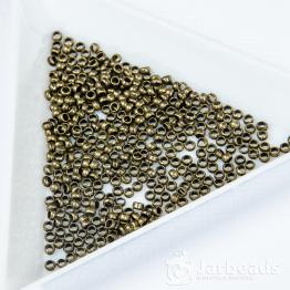 Обжимные бусины 2мм (бронза) 50шт.