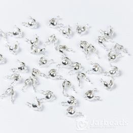 Каллоты 4*8мм с ушком (серебро хром) 10пар
