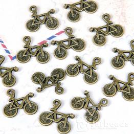 Подвеска металлическая Велосипед 1,3*1,5см (бронза)