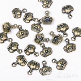 Подвеска металлическая Корона 1*1,2см (бронза)
