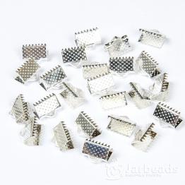 Зажим для ленты 10*6мм (серебро хром)