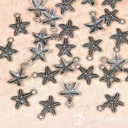 Подвеска металлическая Морская звезда 1,2*1,5см (серебро)
