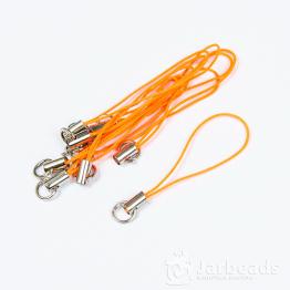 Основа для брелочка на телефон 6см (оранжевый)