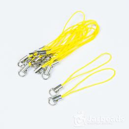 Основа для брелочка на телефон 6см (желтый)