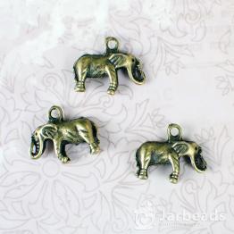 Подвеска металлическая Слон 3D 1,5*1,9*0,5см (бронза)