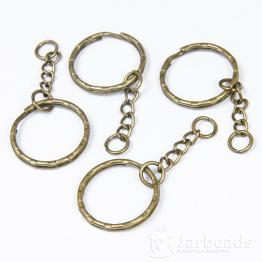 Основа для брелока d2,5см, длина 5,3см (бронза)
